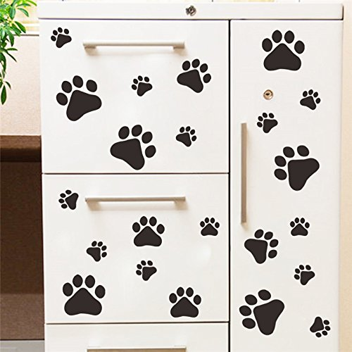 Wallace Glass Print (JD Million shop cute funny Dog Cat Paw Print kids room home decal Wall Stickers DIY cabinet door Decor Food Dish Kitchen House Bowl Car Sticker)