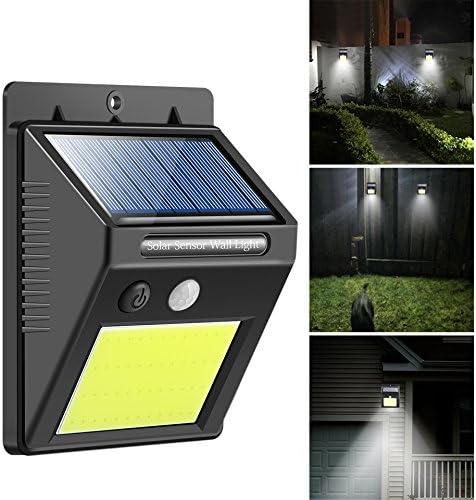 Konesky Luz solar con sensor de movimiento, 48 ledes, luz solar de seguridad, iluminación de calle, exterior de pared, lámpara para jardín, patio, paseo, garaje, patio 48 LEDs: Amazon.es: Iluminación