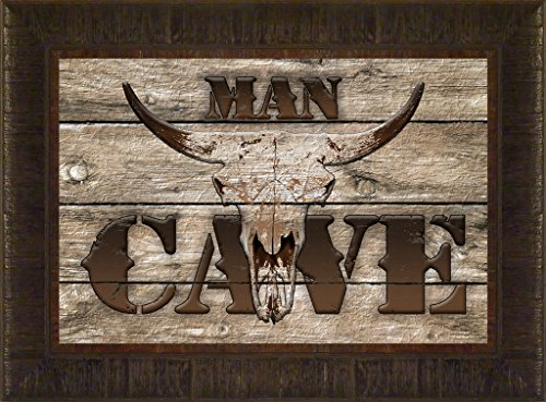 Weathered Man Cave By Todd Thunstedt 17.5x23.5 Wood Barn Man Rodeo PRCA Association Stock Show Fort Worth Jackson Hole Deadwood Rapid City South Dakota National Western Denver Cow Longhorn Cattle - Wayne Preakness