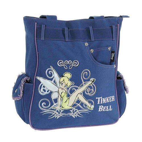 Disney Turnbeutel Tinkerbell Jeans Schultertasche Blau 36961-DI