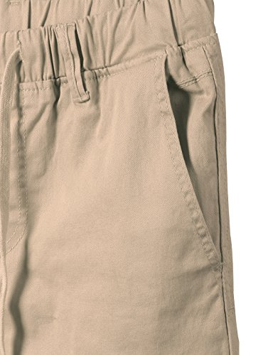JD Apparel Men's Skinny Fit Harem Joggers Large Khaki by JD Apparel (Image #2)