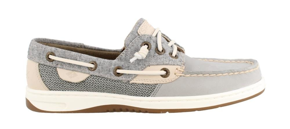 Sperry Women's, Rosefish Slip on Boat Shoe Chambray Gray 5 M