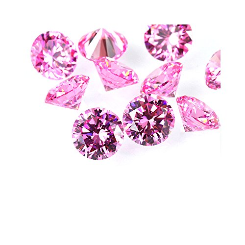 (Alone Moon Loose Pink Round Cubic Zirconia high Temperature do not Change Color Support Wax inlaying (3.0mm-500pcs))