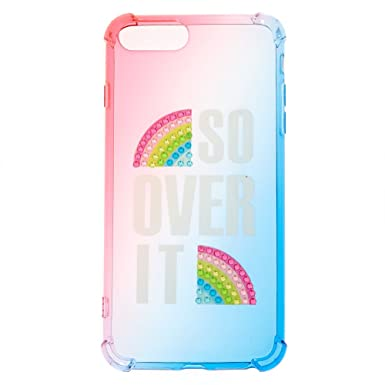 sale retailer 88fca 2e8b6 Claire's Girl's So Over It Rainbow Protective Phone Case: Claire's ...