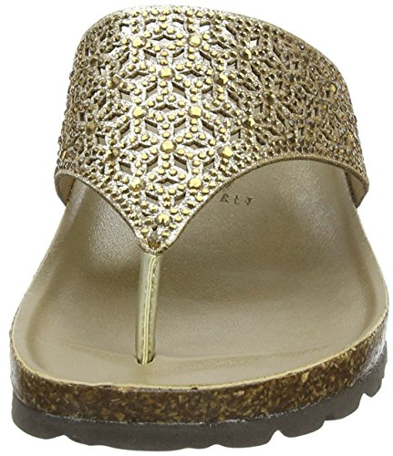 Lotus Forsetti, Sandalias con Tira de T Para Mujer Oro (Gold)