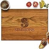 Froolu Designer Monogram Personalized Name Cutting Board Wood