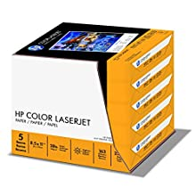 HP Paper, Color LaserJet Poly Wrap, 28lb, 8.5 x 11, 98 Bright, 2500 Sheets / 5 Ream Case (205050C) Made In The USA