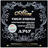 Alice Violin Strings A747 nickel-plated High-carbon steel Nylon cor Aluminum