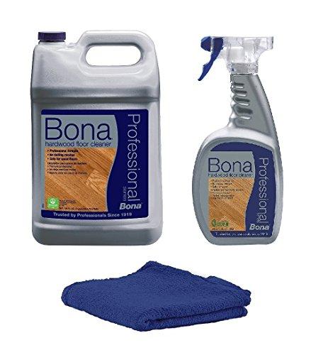 - Bona Pro Series Hardwood Floor Cleaner Refill, 1-Gallon (160 oz KIT)