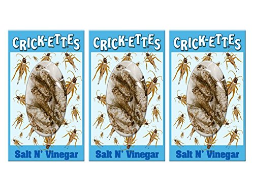 Crick-ettes - Salt N' Vinegar Flavored Cricket Snacks (3 Pack)
