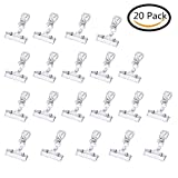 Clear Plastic Rotatable POP Clip-on Style Merchandise Sign Display Clip Tag Holders (20)