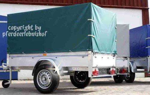 Stema Spriegel Plane Set 750 grün Hochplane für PKW Anhänger 1,00 Meter