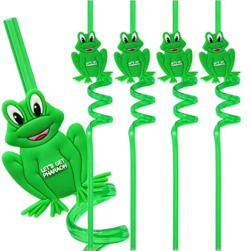 Passover Frog Straws For Kids  Reuseable Lets Get Pharaoh Straws Decor For Your Passover Seder Table (Pack of -