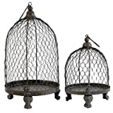 Cheap A&B Home Bird Cage Style Metal Candleholder, Set of 2
