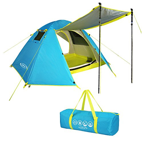 G4Free 2 Person Camping Tent,Dome Tents for Camping,Backpacking,Hiking,Traveling,Easy Set up 3 Season Two Door Double Layer Rainproof Pop up Tents with Carry Bag