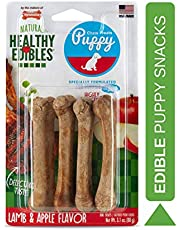Nylabone Healthy Edibles Puppy Natural Long Lasting Chew Treats Turkey & Sweet Potato Petite
