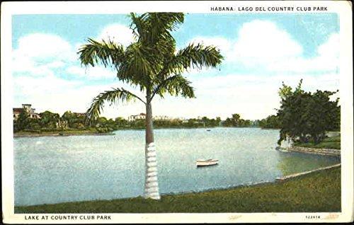 Lake At Country Club Park Habana, Cuba Original Vintage Postcard