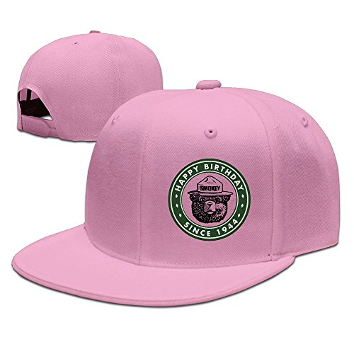 Boss-Seller UnisexCool Smokey Bear Keep It Green Casual Baseball Pink (Smokey The Bear Costume)