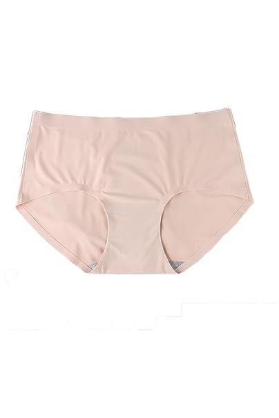 Simgahuva Mujeres Sin Ropa Interior Invisible Super Suave Seda De Hielo Transpirable Breve Panty 3 Pack