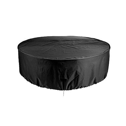 Housse Salon De Jardin Table Ronde, Housse De Protection Anti-UV  Imperméable Bâche Couverture Jardin pour Meubles De Jardin Patio Table, Noir