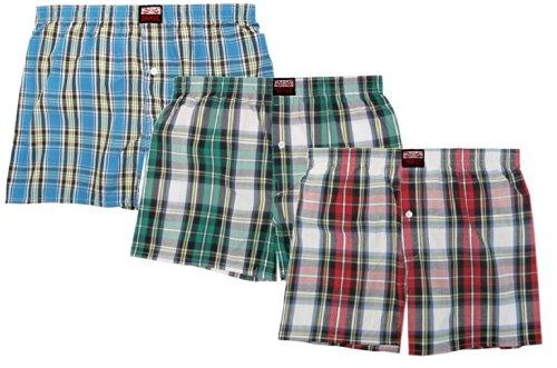 Brave Men's 3pk Cotton Woven Boxer Shorts-XLarge, Combo #2