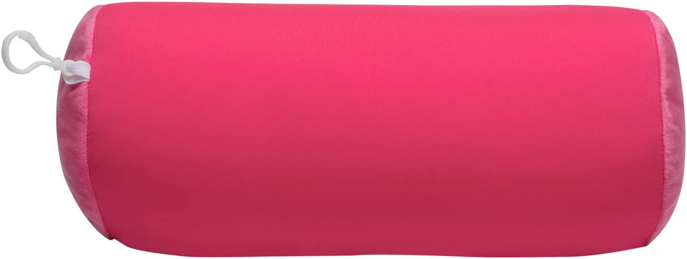 World's Best Microbead Bolster Tube Pillow, Smooth Cool Touch Fabric, Neck or Back Support Pillow, Hypoallergenic, Pink
