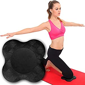 My Way Fitness Yoga Knee Pad by MWF – Works Best with Your Yoga Mat – Kneeling Support for Yoga & Pilates Exercise…