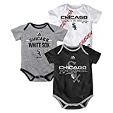 Outerstuff Chicago White Sox Baby/Infant Three Strikes 3 Piece Creeper Set 0-3 Months