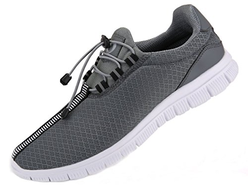 JUAN Men's Running Shoes Fashion Breathable Sneakers Mesh Soft Sole Casual Athletic Lightweight (13US/47EU,Men, Dark Gray)