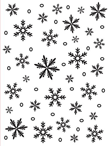 - Darice 1215-58 Embossing Folder, 4.25 by 5.75-Inch, Snowflake Background Design