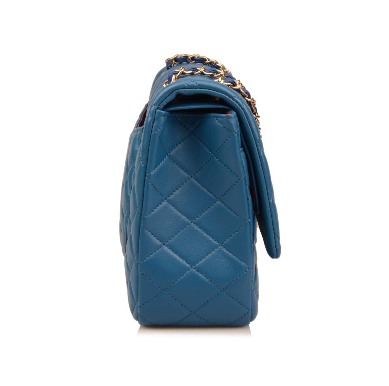 c4b8847e1dd620 Ainifeel Women's Quilted Oversize Genuine Leather Shoulder Handbag Hobo Bag  Purse larger image