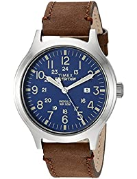 Men's TW4B06400 Expedition Scout 43 Brown/Blue Leather Strap Watch