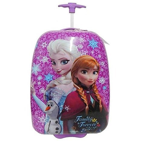 Disney Frozen Elsa & Anna Purple Hard Shell Pilot Case Rolling -