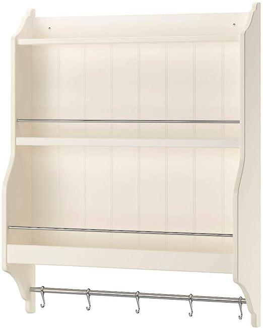 IKEA ASIA TORNVIKEN Estante para platos blanco crudo: Amazon ...