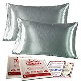 Silk Satin Pillowcase Standard Us For Hair And Skin Hypoallergenic King Size Silk Pillowcase Queen (Queen (2-Pack), Gray)