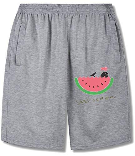 Swimming In The Watermelon Sea Shorts For man gray