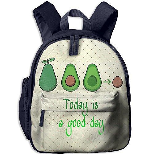 Good Day Avocado Crusher Printed Kids Backpack Toddler School Bags For Kindergarten Soccer Crusher