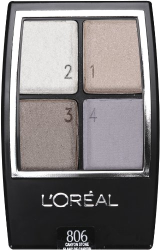 L'Oreal Paris Wear Infinite Made for Me Naturals Eye Shadow Quads, Canyon Stone, 0.16 Ounce