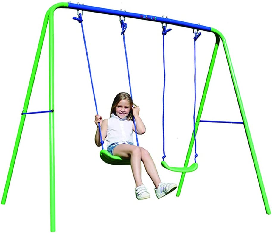 My Swing Play 21 Columpio Infantil Doble, Verde y Azul