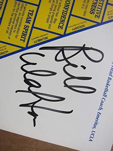 John Wooden & Bill Walton signed 8x10 Pyramid of Success Beckett UCLA Coach & Player autograph