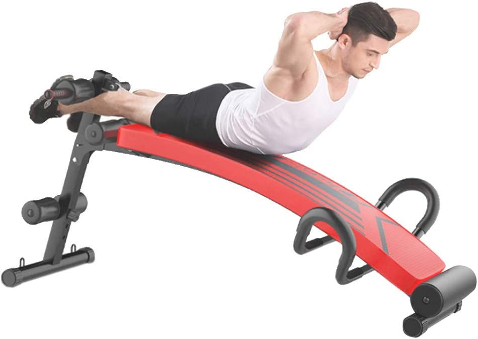 QWENB Sit Up Bench Dumbbells Supine Board Push Ups Strength Abdominal Training for Indoor Sports Activities