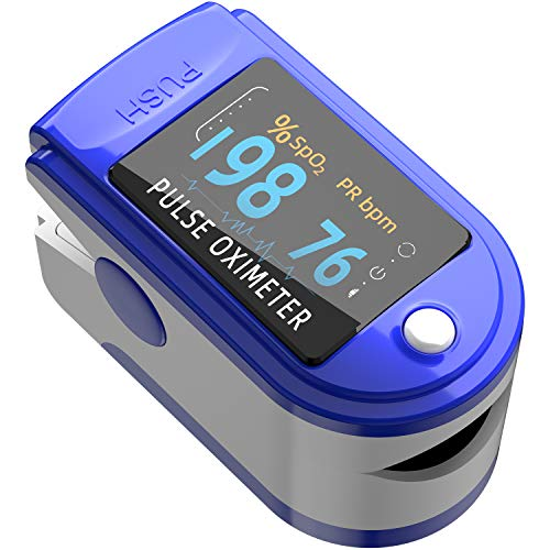 Pulse Oximeter Fingertip, Blood Oxygen Saturation Monitor Fingertip, Blood Oxygen Meter Finger Oximeter Finger with…