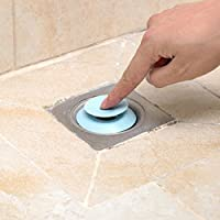 Drain Stopper, Silicone Stop & Filter Drain Stopper/Strainer/Hair Catcher (Assorted Colours)