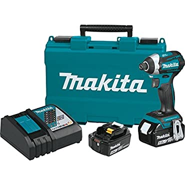 Makita XDT14T 18-Volt 1/4-Inch 5.0Ah 3-Speed Cordless Impact Driver Kit