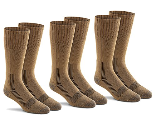 Fox River Mills 3 Pack Tactical Boot Lightweight Sock (Coyote Brown, X-Large)