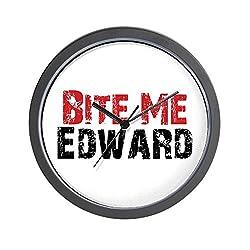 CafePress - Bite Me Edward Wall Clock - Unique Decorative 10 Wall Clock