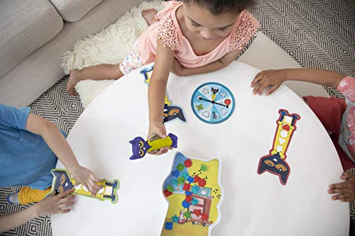 Educational Insights Pete the Cat I Love My Buttons Game: Preschool Shapes Matching Game, Fine Motor Skills, Ages 3+