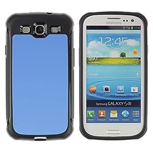 Pulsar Defender Series Tpu silicona Carcasa Funda Case para SAMSUNG Galaxy S3 III / i9300 / i747 , Simple Blue