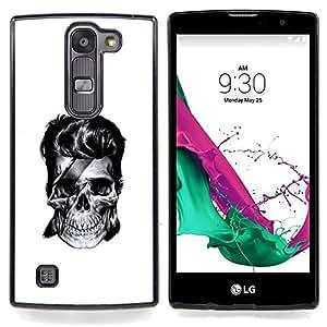 "Qstar Arte & diseño plástico duro Fundas Cover Cubre Hard Case Cover para LG G4c Curve H522Y ( G4 MINI , NOT FOR LG G4 ) (Skull Rock"")"