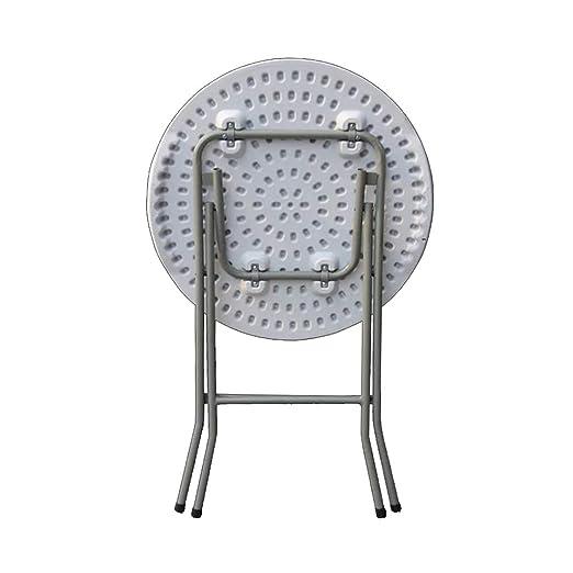 Amazon.com: Mesa de té plegable en color blanco, creativa ...